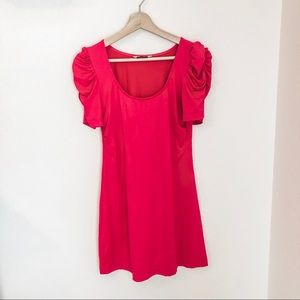 Juicy Couture Pink Ruched Sleeve Dress